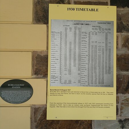 Discovering Burra's railway station and it's history