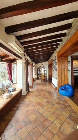 side passage in the villa