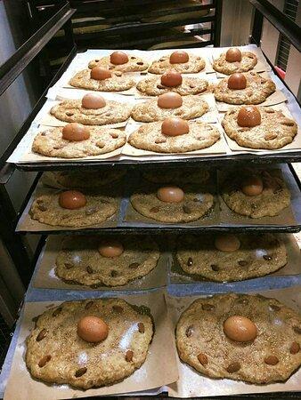 Tortas de hornazos 1 huevo.