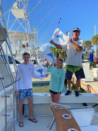 Kid's Rule. Sailfish catches, Caught, photographed and released.
