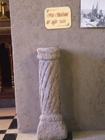 Pila bautismal del siglo XVIII, Iglesia de Andacollo.