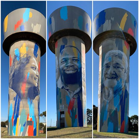 Our Story Water Tower Mural