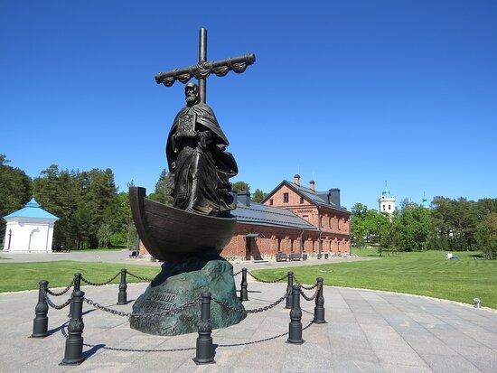 Konevets Island, Ρωσία: Памятник предопобному Арсению Коневскому