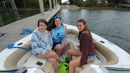 2-Hour Private Hilton Head Sunset Cruise: My girls loved the bow of the boat. I give them great views of the dolphins and they loved the wind in their hair.
