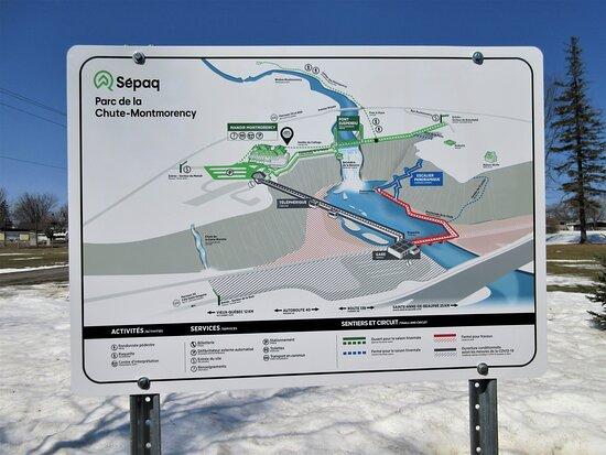 Les activités, les services et les sentiers du Parc de la Chute-Montmorency