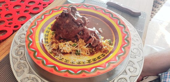 Osso buco  and saffron risotto