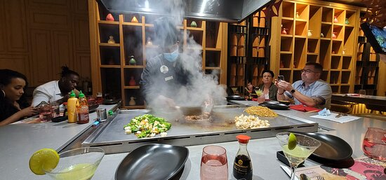 Excellent experience at Sakura!  Our Hibachi master chef was awesome!  Of course he got a good tip! :)