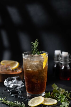"""One of our Signature Drinks and an italian classic called """"Americano Bolognese""""."""