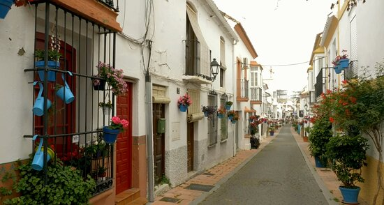 Everywhere you look, there's colour and charm in Estepona Town