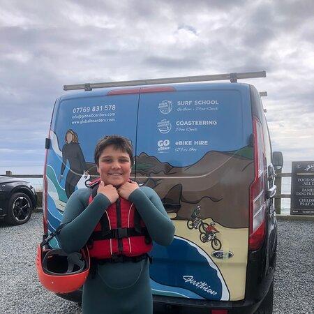 Praa Sands, UK: Coasteering Adventures