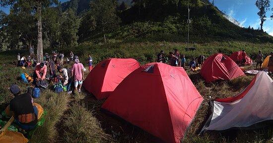 Camping at Segara Anak Lake