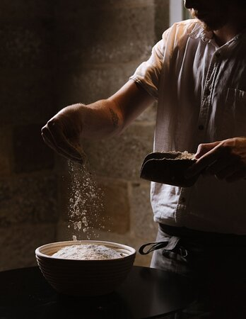 We follow the grain from farm to table – milled on-site and used in the bakery, pasta room & pastry kitchen.