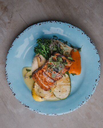 Fall in love with one of our top sellers, Salmon Filet with Citrus Beurre Blanc!