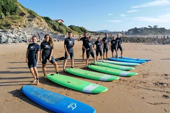 Private surf lessons with friends or family in the Basque Country