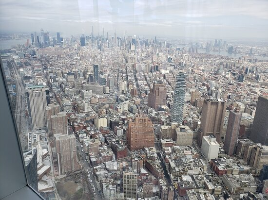 Skip the Line: NYC One World Observatory Ticket: The view from the viewing gallery, incredible!