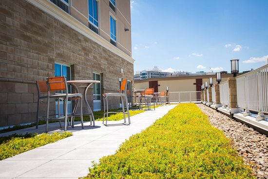 Enjoy our garden patio and take in the sights of Morgantown