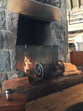 One of the fireplaces on second floor