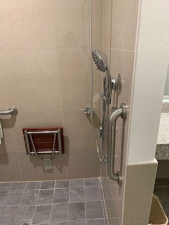 Motel Branson MO Bathroom ADA RI Shower