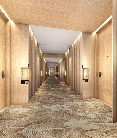Hotel Rendering - Guest Room Corridor