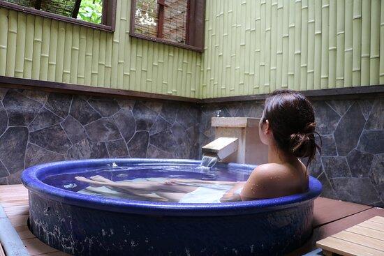 貸切温泉風呂(北投石の湯)
