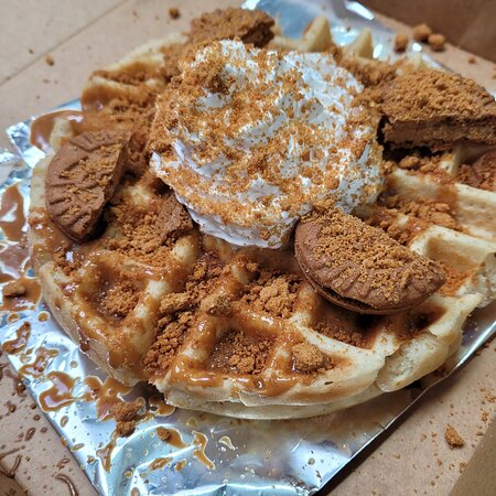 Biscoff Bomb Waffle Special