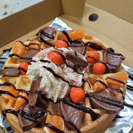 Chocolate Orange Waffle Special