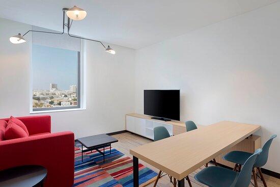 Aloft One Bedroom Suite Living Room