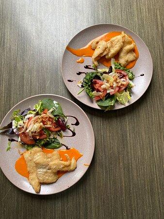 Bacalao a la vizcaína  (Segundo plato del menú del día)