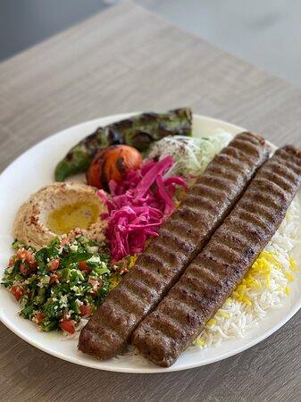Beef Lule (Koobideh) Plate