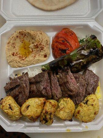 Steak and Chicken Plate.