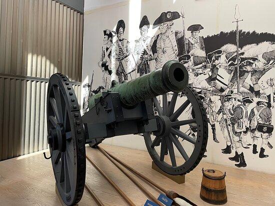Yorktown National Park Visitor Center Lafayette Cannon