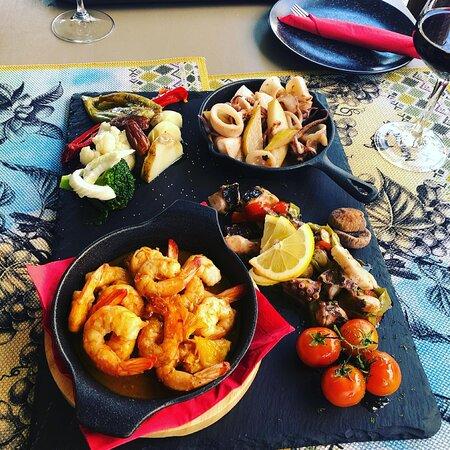 Manxurane Seafood Plater - Shrimps, Calamari and Octopus