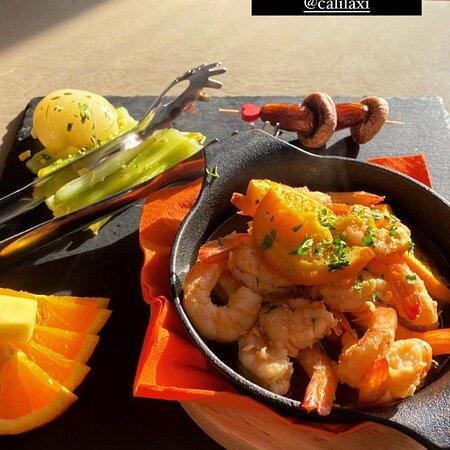 Shrimps Flambé