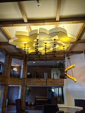 The lobby of the Hotel Corque.