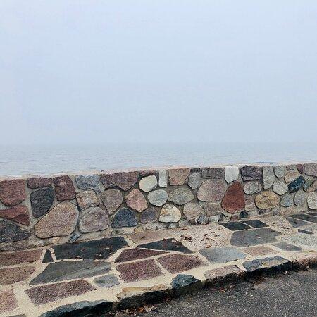 Garrison, MN: Foggy dreamy drive along Mille Lacs Lake
