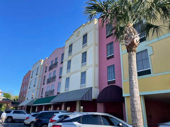 Another view of the colorful hotel.