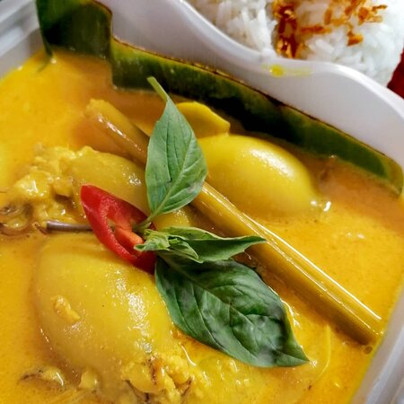 ~ Indonesian Squid Curry Stuffed With Tofu aka Gulai Cumi Isi Tahu 🦑
