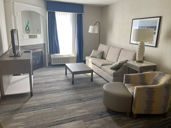 Large living area in suites.
