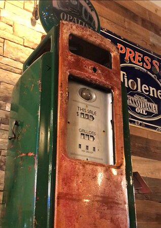 Vintage gasoline fuel pump...perfect for your auto garage or man cave:)