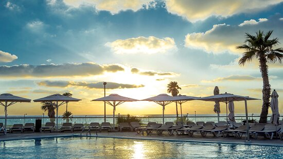 Mediterranean Sunsets at the Pool Bar