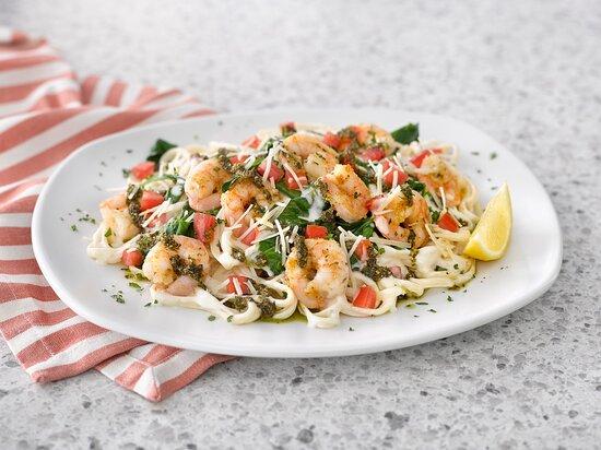 Try one of Comfort Classics - Shrimp Pesto Pasta