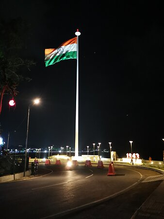 This is the famous flag point at Port Blair.