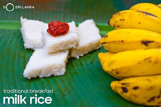 Milk rice or kiribath is a traditional breakfast dish in Sri Lanka that is often eaten in celebration. Don't forget a dash of spicy Sri Lankan chilli sambol! . . . . #MilkRice #SriLankanDelicacies #AvuruduCelebrations #SoSriLanka #VisitSriLanka #ExploreSriLanka #SriLanka #SriLankaTravel