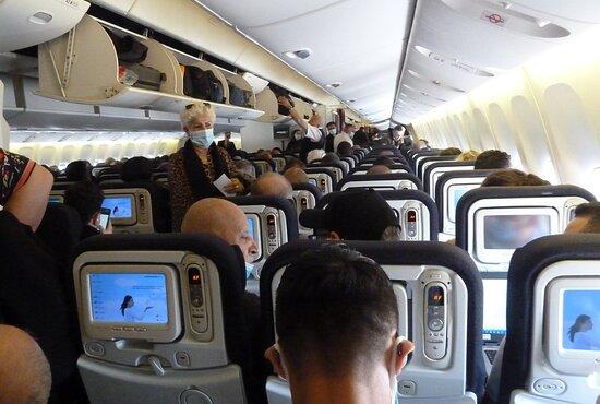 Air France: Schön voll haben wir's hier