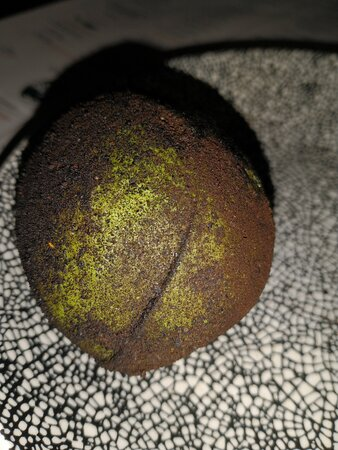 This photo doesn't do it justice--there's crab inside the avocado
