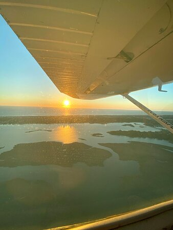 the view from above the Sound at dawn