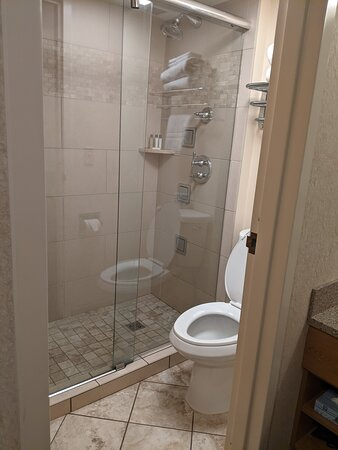 The separate shower and toilet