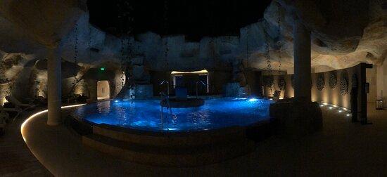 The spa at night...so beautiful!