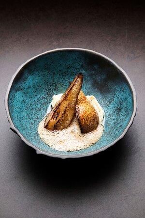 Tepka pear, parsley root, foie gras