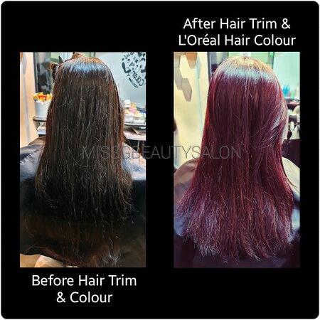 #hairtrim & #haircolour by@missg911 Singapore @missgbeautysalon  For Appointments: 📞 📩: +65 9145 2959   #hairsalon #lorealprosg #sghairsalon #lorealprofessionnel #sgindians #sghairsalon #missgsalon #balestierplaza #hairstyles  #singaporeexpats #singaporesalon#haircare #modernsalon #balestierroad  #haircut #singaporehairsalon #sghair  #missgbeautysalon #nofilter #indiansalonsingapore #missg   #missgindiansalon #hairstylist #gorgeousforever  #missgbalestierplaza  #missgindiansalonsingapore